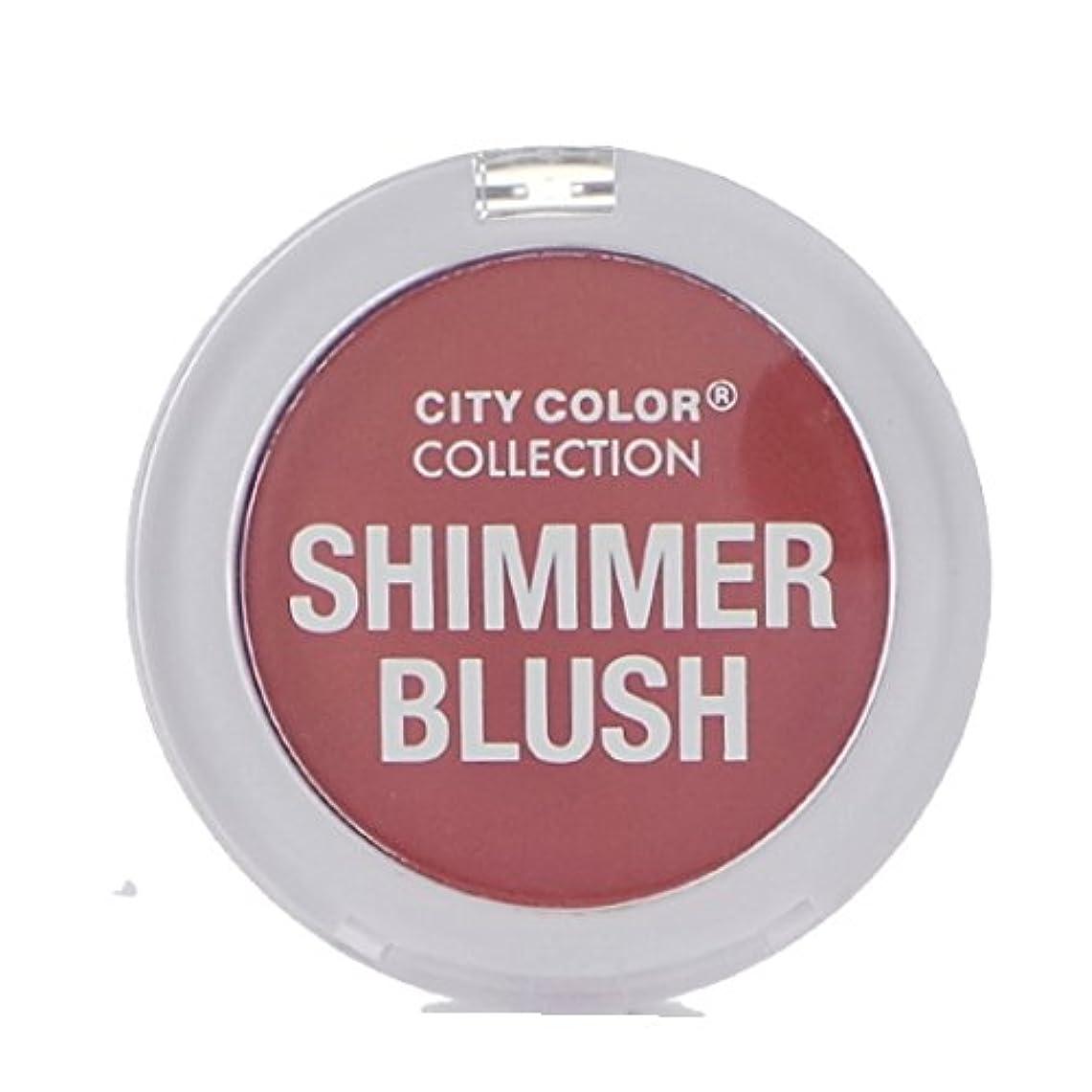 ソーダ水スロープ眠いですCITY COLOR Shimmer Blush - Mauve (並行輸入品)