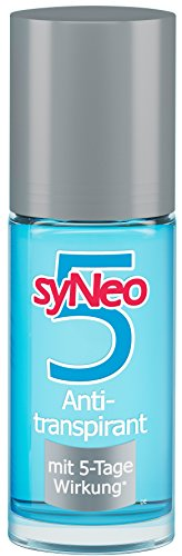 syNeo 5 Anti-Transpirant, Anti-Perspirant Deo Unisex Roll-On, 1er Pack (1 x 50ml)