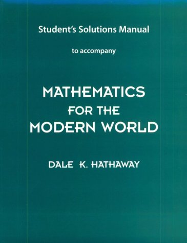 Mathematics for the Modern World