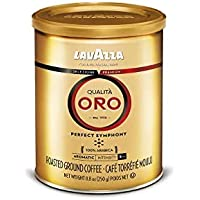 4-Pack Lavazza Qualita Oro Medium Roast Ground Coffee Blend, 8.8-Ounce