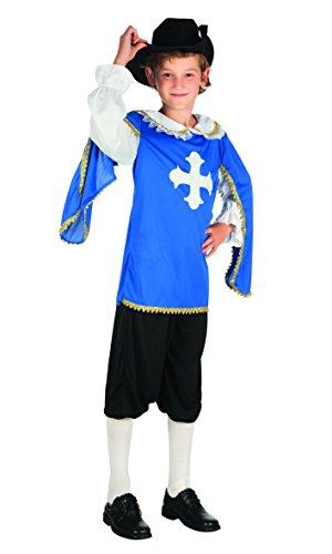 Boland- Moschettiere Costume Bambino, Blu, 10-12 anni, 82147