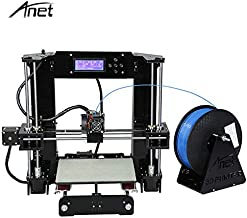Anet Auto Leveling A6 3D Printer with Filament 1.75mm, High Precision Self Assembly Reprap i3 DIY 3D Printer Kits with 2004 LCD Display Screen 220 x 220mm Hot Bed - Black