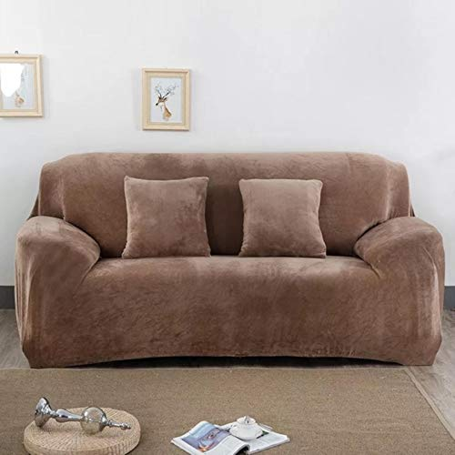 GoGOO Cubiertas de sofá elásticos Sala de Estar L Cubiertas para Cubiertas de Muebles tapizadas para sofá de Esquina
