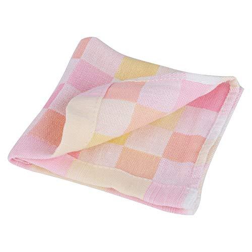 Baby Wasdoek en Handdoek 9.84 x9.84 Inch Absorbent Handdoek Saliva Handdoek Verpleegdoek Zakdoek voor Pasgeboren Baby roze