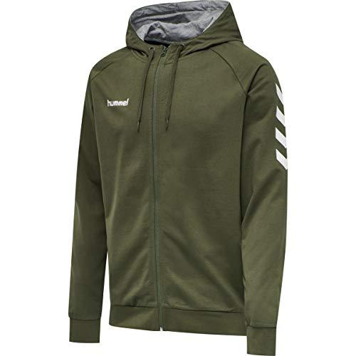 Hummel Herren HMLGO Cotton Zip Hoodie Sweatshirt, Grape Leaf, M