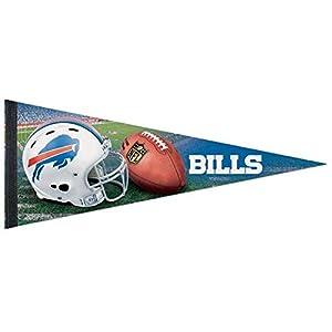 Bek Brands Football Teams Flag Banner Pennant, 12 x 30 in, Soft and Durable (Buffalo Bills Helmet)
