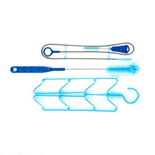 QAVILFLY Reinigungsbürste für die Trinkblase, Reinigungsbürste für Wassersäcke, Reinigungsset, 4-in-1-Reinigungsset-Langbürste, Flexible Bürste, kleine Bürste und Trockenbügel mit 1 Tragetasche 1St