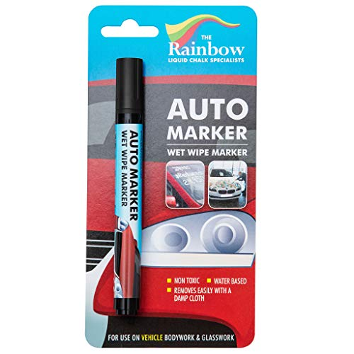 Car Paint Marker Pens Auto Writer Black – All Surfaces, Windows, Glass, Tire, Metal – Any Automobile, Truck or Bicycle…