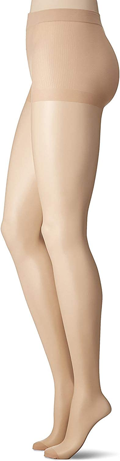 SABRINA Women's Run Resistant Sheer Pantyhose with Reinforced Toe