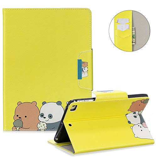 MOIKY Case for iPad Mini 5 2019,Folio Stand Wallet Smart Cover for iPad Mini 5th Generation/iPad Mini 1 2 3 4,Slim Stylish Painted Pattern Shockproof PU Leather Protective Case,Three Bears