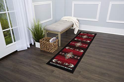 Home Dynamix Sagrada Southwest Area Rug 2x7 Black/Red/ Ivory