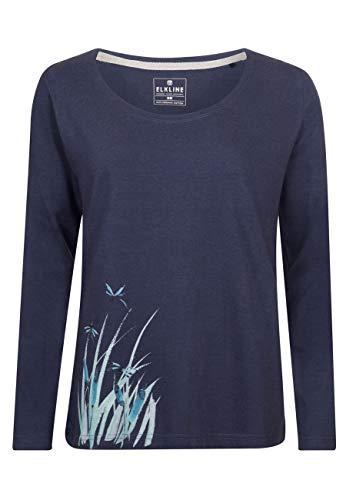 Elkline Damen Langarm Shirt Stillwater, Farbe:darkblue, Größe:40