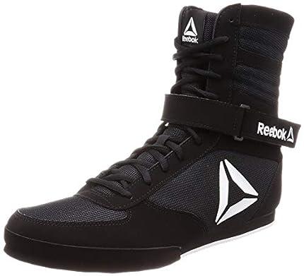 Reebok Boxing Boot-Buck, Zapatillas de Artes Marciales Hombre, Multicolor (Black/White 000), 46 EU