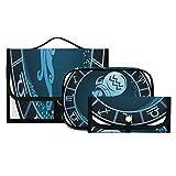 Bolsa Grande de Maquillaje Acuario Zodiaco Hermoso horóscopo Bolsas de Maquillaje para Mujer para Monedero Organizador de artículos de tocador Lavable y Plegable Bolsa de Viaje Adecuada para Viajes,