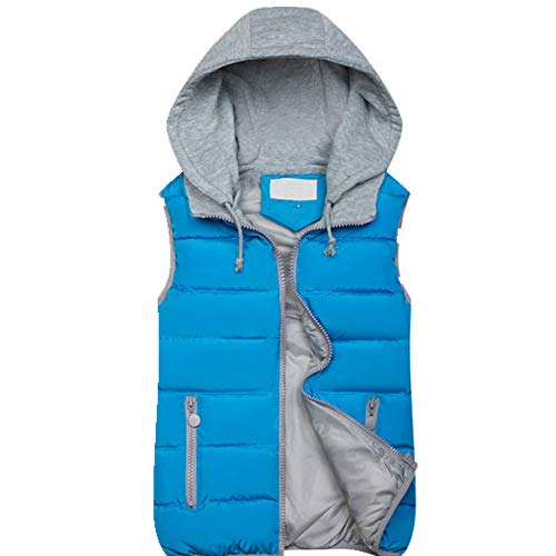 Chaleco de invierno con capucha para mujer cálido sin mangas corto chaqueta chaleco