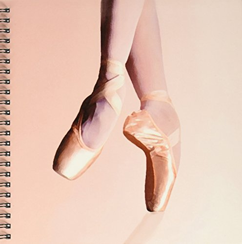 3dRose db_1277_1 Ballet Slippers Drawing Book, 8 by 8-Inch