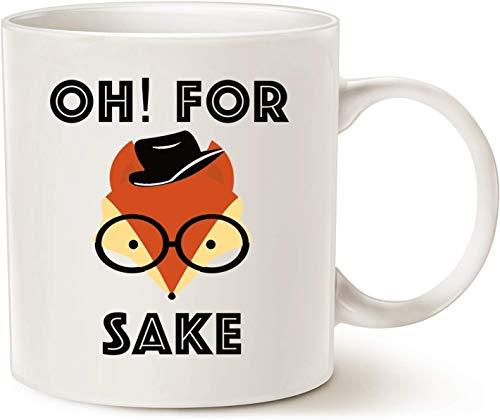 Ouniaodao Oh For Fox - Taza de café con asa (porcelana), diseño retro con texto 'Classmate, apta para uso en el hogar', 325 ml