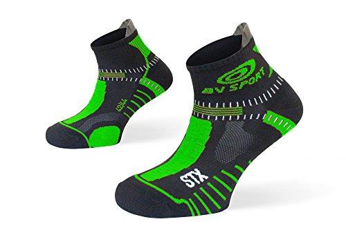 BV Sport STX Evo Nero/Verde - Calza Trail Running - 39-41