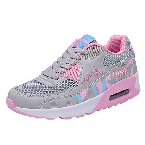 NMERWT Damen Sneaker Breathable Laufschuhe Turnschuhe Der Art-Und Weisefrauen Ineinander Greifen Beiläufige Schuh Sportschuhe Dämpfung Kursteilnehmer laufende Schuhe