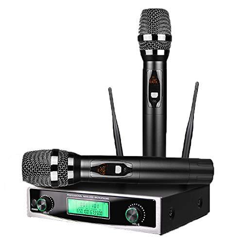 UHF Draadloze Microfoon, Dual Channel Karaoke Microfoons Set Met 2 Houvast Microfoon, Professionele Dynamische Draadloze Microfoon Systeem Voor Meeting, Levering Van De Partij