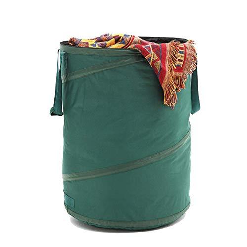 BonusAll Collapsible Garden Bag 45 Gallons Leaf Yard Reusable Waste Bags