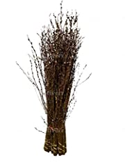 Bunches come in variations of 10, 20 or 30 Each stem is approximately 3 to 4 ft long. Natural, decorative branches create a simple, yet sophisticated look to any room Fresh pussy willow dries into darker tone. Pussy Willow branches are often placed i...
