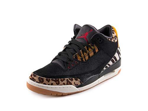 Jordan Nike Mens Air 3 Retro SE Animal Instinct Black/Multi-Dark Mocha Synthetic Size 11