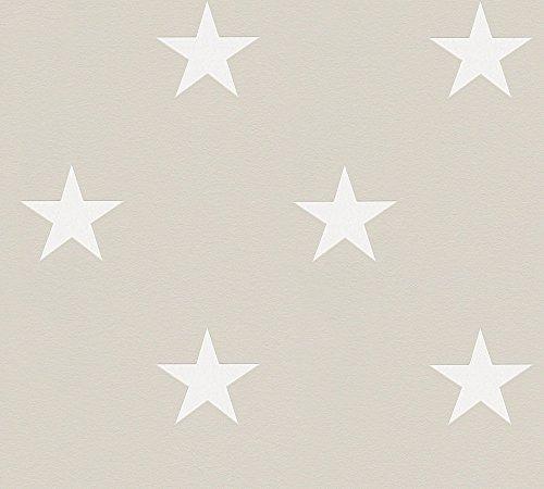 Metropolis by Michalsky Living Vliestapete High Rise Tapete Stars Sterne 10,05 m x 0,53 m grau weiß Made in Germany 325214 32521-4