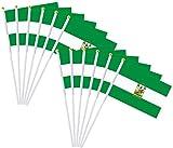 Durabol 12PCS Bandera de Mano de Andalucia Comunidades autónomas de España (20X30CM) (Andalucia)