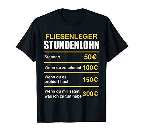 Herren Fliesenleger Stundenlohn T-Shirt