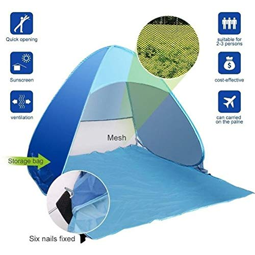 Afang UPF 50+ Easy Pop Up Beach Sun Shelter Tent, Children Portable Canopy Quick Instant Automatic Sport Umbrella Sun Shade Family Garden Camping Picnic Indoor Outdoor