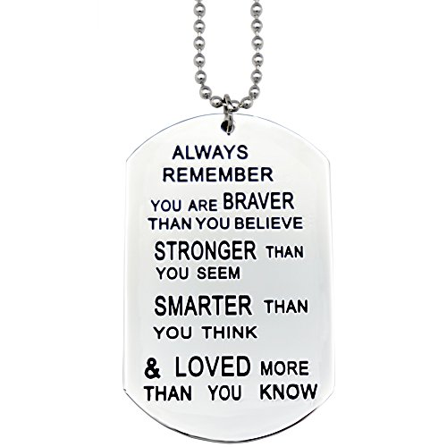 O.RIYA You are Braver Than You Believe Necklaces/Keyring (White)