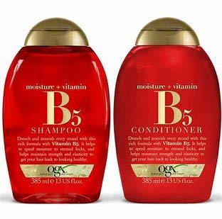 (2 PACK) OGX Moisture & Vitamin B5 SHAMPOO x 385ml & OGX Moisture & Vitamin B5 CONDITIONER x 385ml
