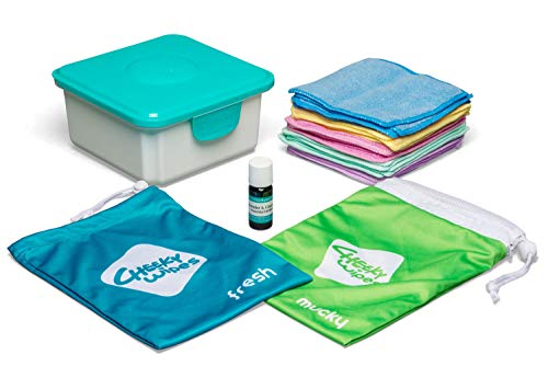 Cheeky Wipes Washable Cloth Reusable Baby Wipes Kit
