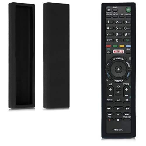 kwmobile Funda para Sony RMT-TX100 / RMT-TX200C / TX300C - Case Protector de Silicona para Mando a Distancia de Color Negro