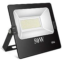Toplanet 50w Floodlight Led Foco Proyector Led para Exterior Iluminación Decoración 6500k IP66 Negro