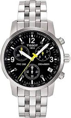 Reloj para hombre marca Tissot T17.1.586.52 PRC200 cronógrafo de acero inoxidable