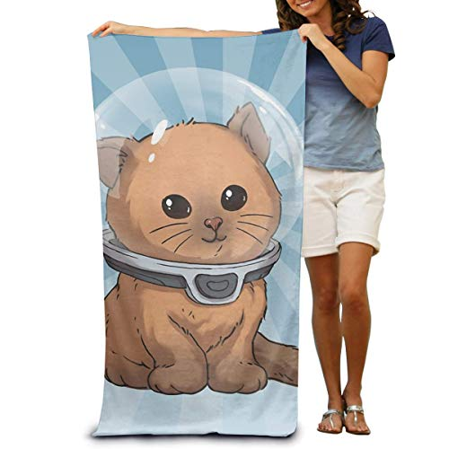 Lawenp Keep Calm Kitty - Toalla de Playa de Microfibra Personalizada, Ultra Suave, súper Absorbente de Agua, Multiusos, para Playa, de Gran tamaño, de 32 x 51 Pulgadas
