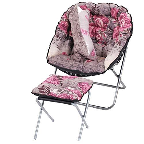 DS-chaise Moon Chair - Chaise d'appoint pour Adulte Chaise de Repos et Repose-Pieds Chaise Pliante intérieure Chambre Salon && (Couleur : G)