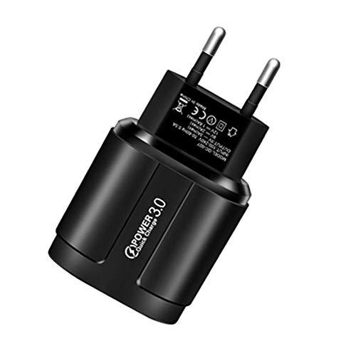 KoelrMsd 3 USB 18W Carga rápida Teléfono móvil Cabeza de Carga Universal Pared Teléfono móvil Tableta Cargador Retardante de Llama