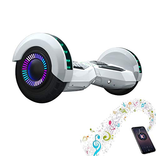 Capacidad De Peso Hoverboard 100kg Motor Sin Escobillas Bluetooth Altavoz Surround Safety Anti-Shaking, Neumáticos A Prueba De Explosiones, Sonido De 8 Pulgadas Auto-balanceo De Auto-balanceo Coloread