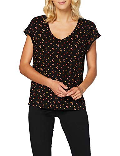 TOM TAILOR Denim Damen Sporty Bluse, 24230-black red Flower pri, XL