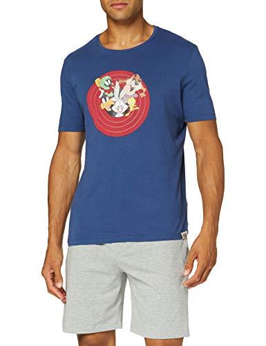 Springfield Pij Short Warner Toon Org-c/43 Pantalones de Pijama, Gris (Dark_Grey 43), L (Tamaño del Fabricante: L) para Hombre