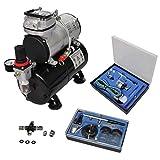 VidaXL 140285 Kit compresseur Airbrush professionnel avec 2 pistolets