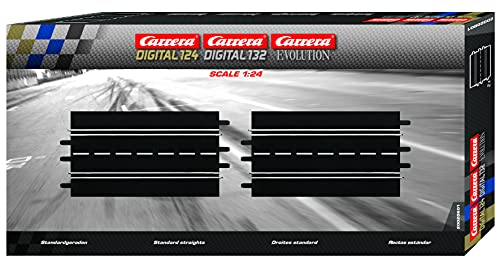 Carrera - rail et accessoire pour circuit - 20601 - 1/24 - Carrera ExclusiV - Carrera EvolutioN -Carrera Digital 132 et 124 - Droites standard (2)