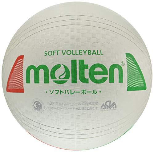 モルテン ソフトバレーボール 検定球 白赤緑 1球