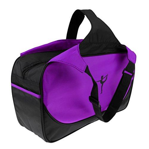 F Fityle Estera de Yoga Impermeable Mochila de Hombro Pilates Cojín Bolsillo Multifuncional - Púrpura