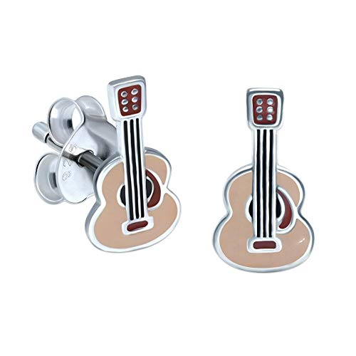 Acoustic Guitar Earrings - Sterling Silver Gift