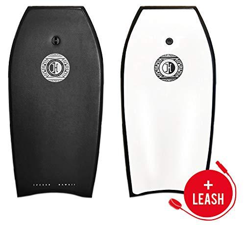 JUCKER HAWAII Bodyboard Black 41 Zoll Schwarz - EPS Kern/HPDE bis 100 kg mit hochwertiger Leash
