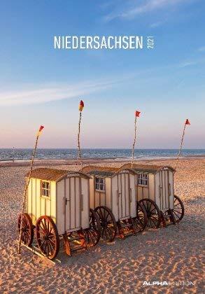 Niedersachsen - Kalender 2021 - Alpha-Edition-Verlag - Wandkalender mit wundervollen Sehenswürdigkeiten und Platz zum Eintragen - 24 cm x 33,8 cm - Spiralbindung